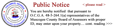 muscogee county georgia property records
