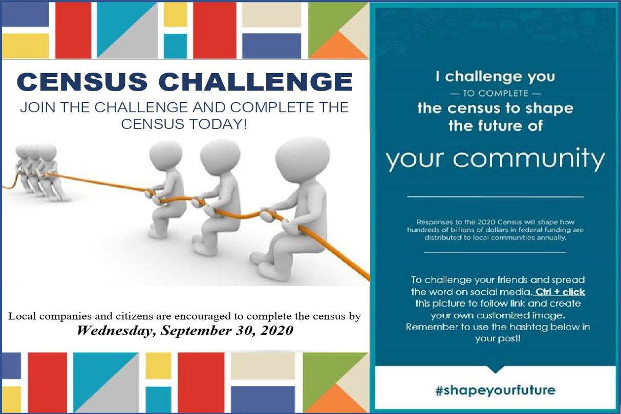 2020 Census Challenge! Complete the Census by September 30th